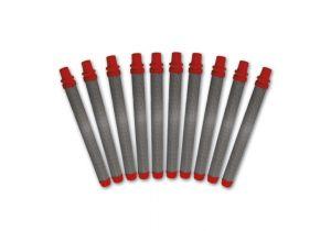 Tamis de crosse rouge, jeu de 10 pièces, 180 mailles/0,084 mm MW, extra fin
