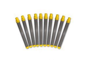 Tamis de crosse jaune, jeu de 10 pièces, 100 mailles/0,14 mm MW, fin
