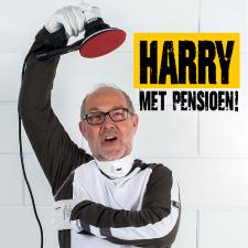 Harry met pensioen